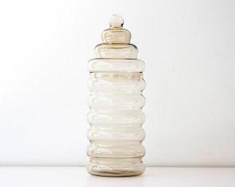 Vintage Danish Modern Holmegaard Primula Glass Jar - Scandinavian Modern