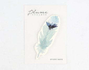 Green Feather Sticky Notes, sticky note memo stick marker pads - Stick Note, Notepad, Mini Notepad, Post It