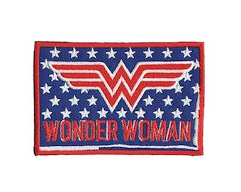 Wonder Woman Iron On Applique, Wonder Woman Logo Patch, Genuine DC Comics Patch, Stars and Stripes, WonderWoman Applique, Kids Patch