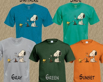 Snoopy & Woodstock Camping T-Shirt