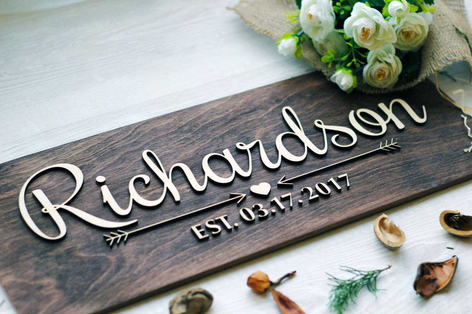 Wedding last name sign wedding established family sign wall zoom amipublicfo Image collections
