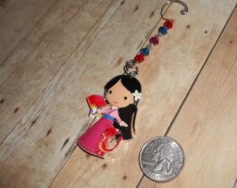 Mulan and Mushu Christmas Ornament // Princess and Dragon X-Mas Ornament // Cartoon Holiday Decor // Stocking Stuffer