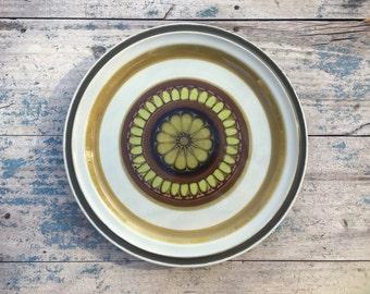 Mid Century Stoneware Platter Acsons Sarasota Green Decor, Chop Plate, Serving Plate