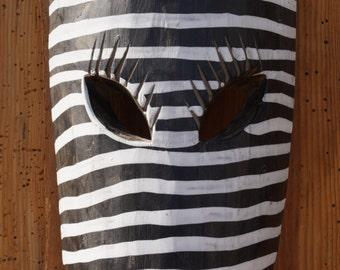 Original handmade African Zebra mask