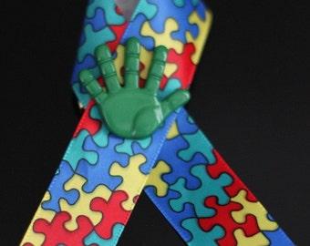 Autismus-Bewußtsein mit grün