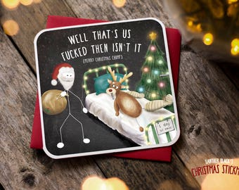 Funny Christmas Card / Christmas Card / Funny Holiday Card / Funny Cards / Funny Christmas / Funny Santa Rudolph Card / Hospital / XS05