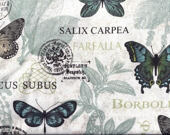 Teal Blue Butterflies Curtain Valance