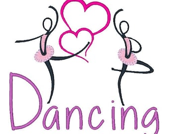 Dancing Embroidery Design Dance Machine Embroidery Designs 4X4 5X7 6X10 8X8 Instant Download Dancers