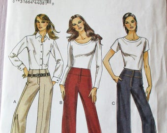 Vogue pattern, Vogue Very Easy, misses pants, semi-fitted pants, side seam pockets, sz:12, 14, 16, 18, 20