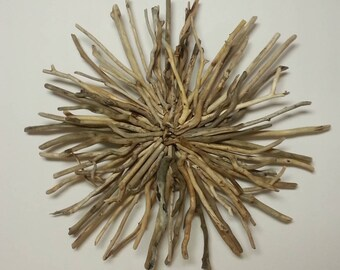 Wonderful Driftwood Sunburst Wall Hanging, Beach Decor, Home Decor, Art Driftwood,  Driftwood Sculpture
