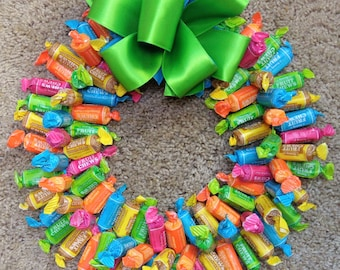 Candy Gifts Edible Wreath Father's Day Tootsie Centerpiece Unique Gift Ideas Arrangement