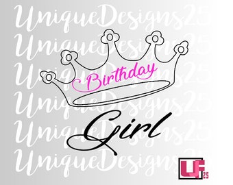 Birthday  Girl Svg Eps Dxf Png Jpg