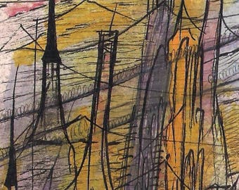 No. 1006H ACEO Art Cards Editions & Originals Fantasy Landscape by NoRaHzArT