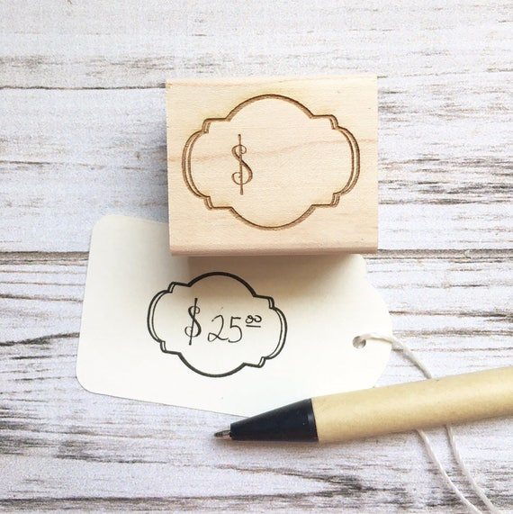 Price Tag Dollar Sign Rubber Stamp
