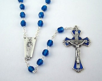 Blue Holy Family Rosary (25)