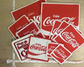 Vintage Lot Of 11 Old Coca-Cola Patches Used