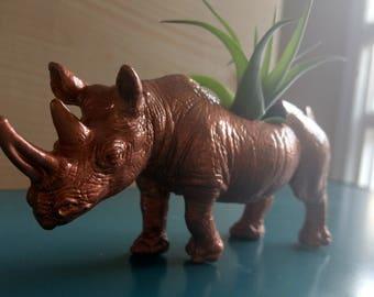Copper Rhino Plant Holder