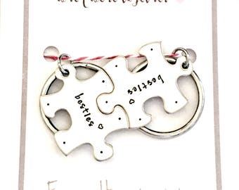 Besties Key Chain Set - Puzzle Piece Keychains - Everything's Better When We're Together - Best Friends Gift Set - Bridesmaid, BFF Gift Idea