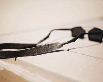 Steel Grey Leather Sunglass Strap / Sunglass retainer / Strap for Sunglasses
