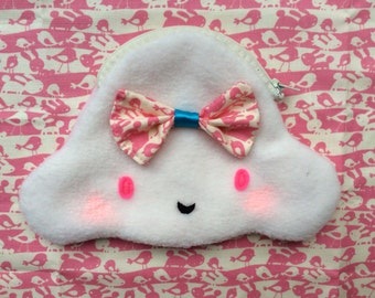 Kawaii/Baby Kei Cloud Coin Purse-Sugar Candy Fluff Puff Cloud