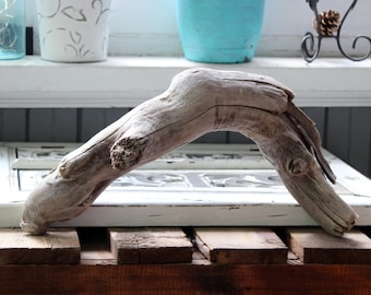 "Driftwood Bridge , 17 1/2"" Curved Drift Wood Piece for Aquarium Use, Garden Art Sculpture and Natural Home Decor"