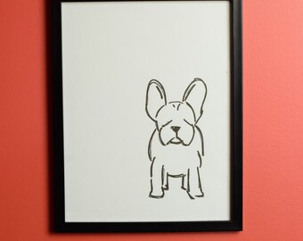 French Bull Dog 2 Print