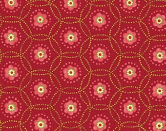 MORE of This 'N That - Star Catcher in Claret Red - Cotton Quilt Fabric - Designed by Nancy Halvorsen for Benartex Fabrics - 863-15 (w1919)
