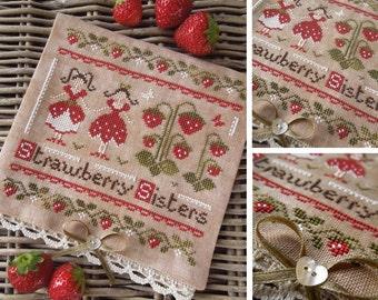 The Strawberry Sisters PDF Digital Cross Stitch Pattern