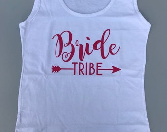 Bride Tribe, bride shirts, Black and Gold, bride tribe top, Team bride, bridesmaid, bride tank top, bride, bridesmaid gifts, bride party top