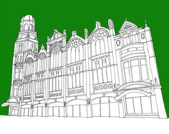 Manchester Albert Hall A3 Print
