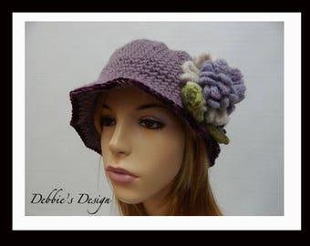 Women's Crochet Cloche-601 Women's Church Hat, Cloche Hats, Crochet Hats, Women's Hats, Downton Abby
