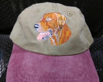 Rhodesian Ridgeback baseball style hat