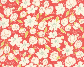 "Coney Island Buttercup Candy Apple Red, END Of BOLT 16"" x 44/45"", Quilt Fabric by Fig Tree, 20285 12, Moda Fabrics"