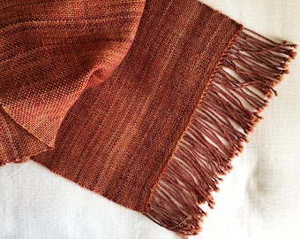 Plaiding Schal - handgewebt - Merino, Mohair, Nylon - Glut
