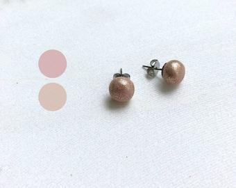 Dainty earrings, stud earrings, polymer clay jewelry, minimalist earrings, studs, post earrings, gift for her, gift for women