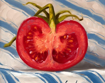 Half #5 - Fine Art Giclee Print - Original Oil Painting - Still Life - Kitchen Decor