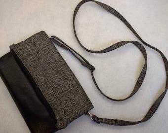 crossbody purse, foldover clutch, faux leather purse