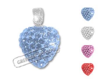 Swarovski Crystal Heart Pendant (4 color options)