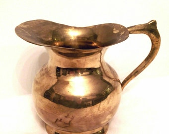 Brass Pitcher - Brass Decor - Vintage Brass Pitcher - Pitcher - Vintage Pitcher - Vintage Kitchen Decor - Vintage Brass - Home Decor - Brass