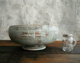 Wood Bowl (re)Designed in Sage and Gray