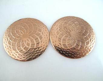 Enameling Discs, Mandala, Copper Enameling Discs, Textured Copper Discs 38MM, JA-JAED-003