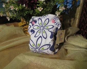 White & Purple Flowers Cloth Nykibaby Butterfly Diaper Newborn