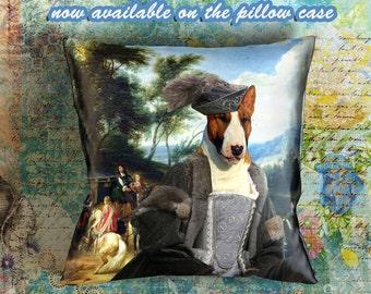 Dog Pillow - Bull Terrier Pillow Case - Bull Terrier Pillow Cover - Dog Pillow Cover - Bull Terrier Gifts - Bull Terrier Art