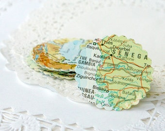 Map Stickers, Map Envelope Seals