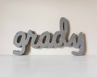 Wood Name Sign- Nursery, Baby Name, Children's Name, Home Decor