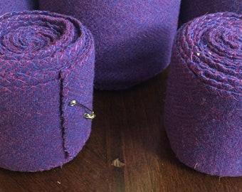 Child Winingas or Arm wraps - Viking - Norse - Anglo-Saxon Leg Wraps deep medium purple