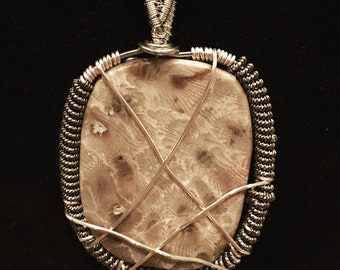 Spiral Bound Petoskey Stone Pendant