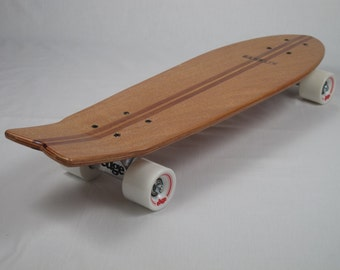 Cruiser Skateboard 27 inch with wood strip inlays