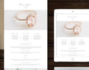 Photographer Newsletter Template - Photography Marketing Templates - Modern Calligraphy Style Design - Boudoir Photographer Marketing