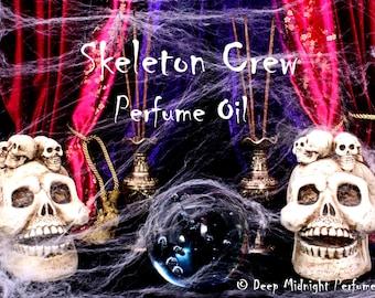 SKELETON CREW Perfume Oil: Popcorn, butter, roasted marshmallows, sugar, dried leaves, amber, charred wood, Halloween Perfume, Autumn
